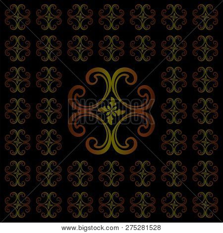 vector seamless ornament pattern. pattern ornament with black background. Abstract ornamental decorative ethnic style design. Modern pattern ornament. Christmas seamless pattern. Mandala flower decorative elements. vintage ornament. ornament texture. Desi stock photo