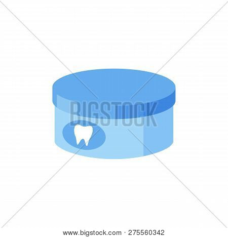 Toothpowder illustration. Tooth, powder, jar, can. Dental care concept. Can be used for topics like teeth cleaning, hygiene, bathroom, morning stock photo