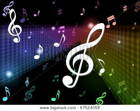 Music Background Meaning Playing Notes And Songs stock photo