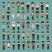 Group Cartoon People