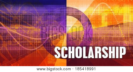 Scholarship Focus Concept on a Futuristic Abstract Background stock photo
