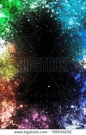 Bright Colorful Dust Background-Mini Fridge Magnet Skin (size 20x31)