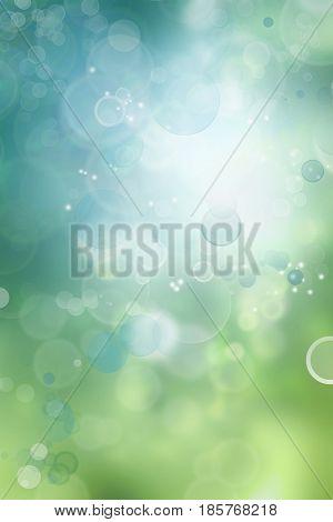 Bokeh circles green blue background-Lg Fridge Magnet Skin (size 36x65)