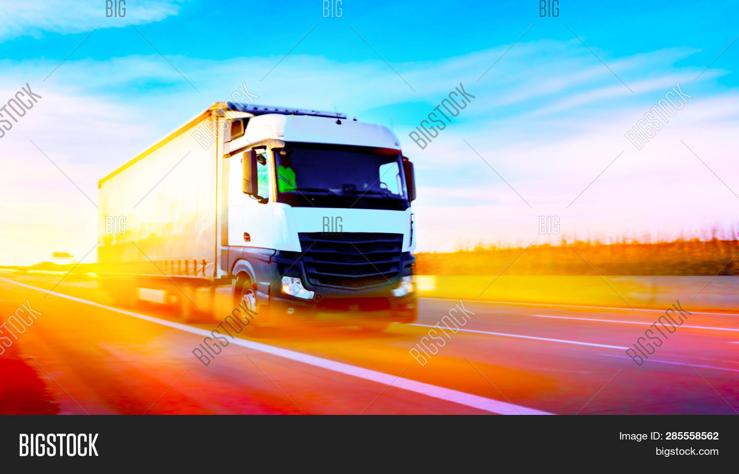 Commercial Transport .  Truck Transport Container   . Transportation Of Freight Europe . Industrial