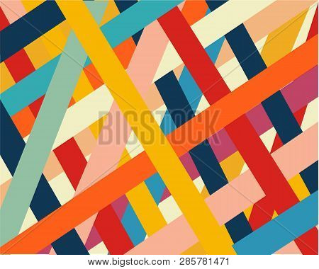 Straight Diagonal Thin Line Abstract Background, Striped Geometric Pattern, Vector Parallel Inclined