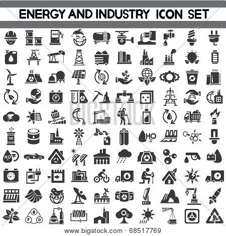 energy icons, industry icons