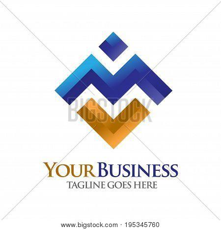 elegan letter M logo, letter MV logo, elegant  concept for Alphabetical Logo Design Concepts. Letter M stock photo