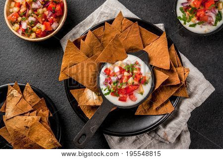 Queso Blanco With Baked Tortilla Chips
