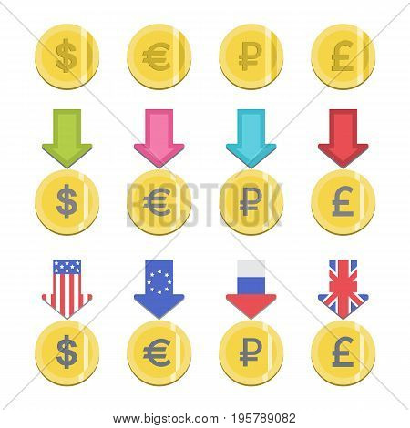 Donate buttons set. Help icon donation. Gift charity. Isolated support design sign. Contribute, contribution, give money, giving symbol. Vector illustration art stock photo