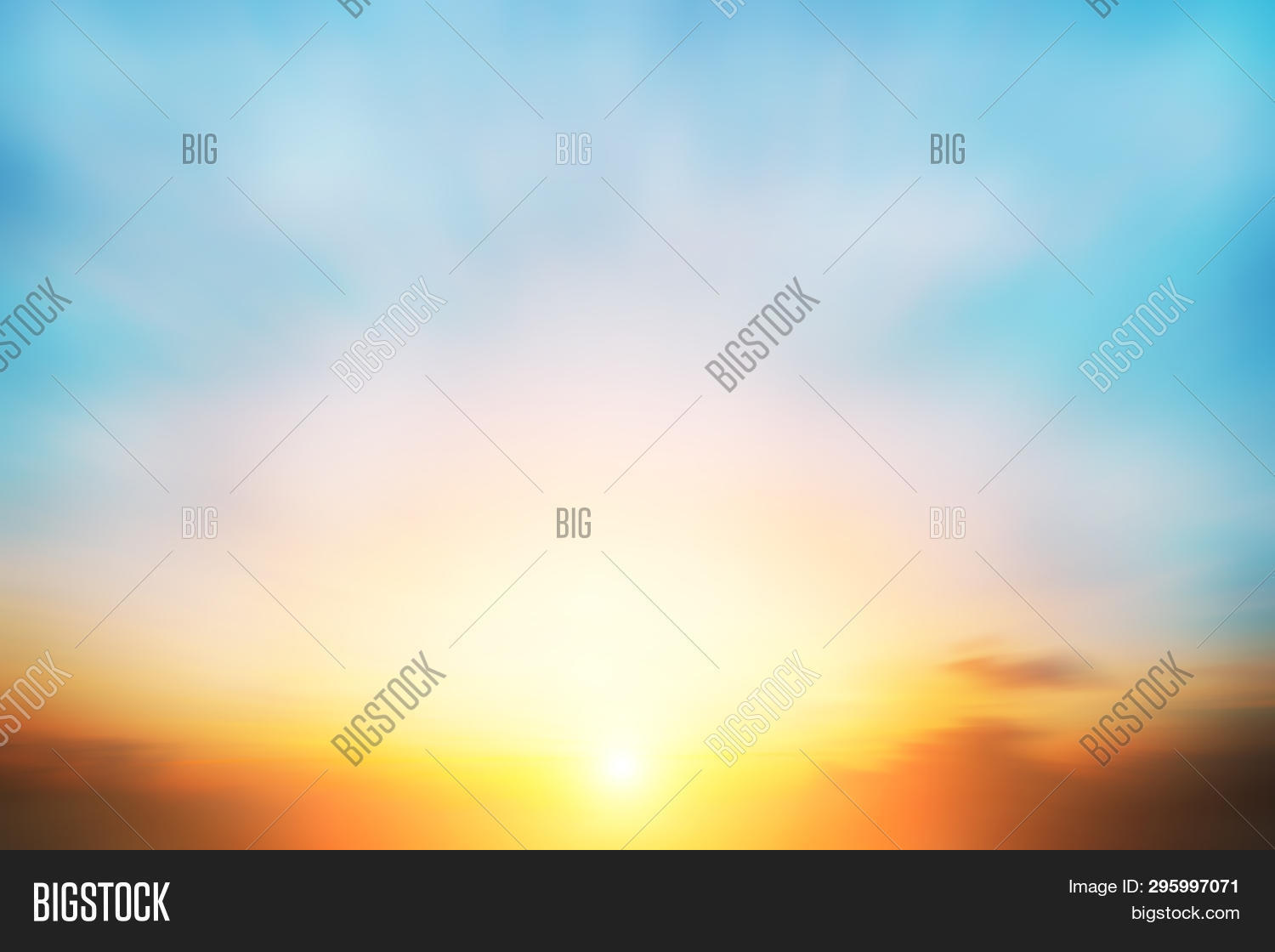 The Blur Pastels Gradient Sunset Background On Soft Nature Sunrise Peaceful Morning Beach Outdoor. H