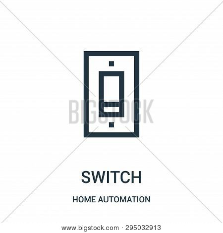 switch icon isolated on white background from home automation collection. switch icon trendy and modern switch symbol for logo, web, app, UI. switch icon simple sign. switch icon flat vector illustration for graphic and web design. stock photo