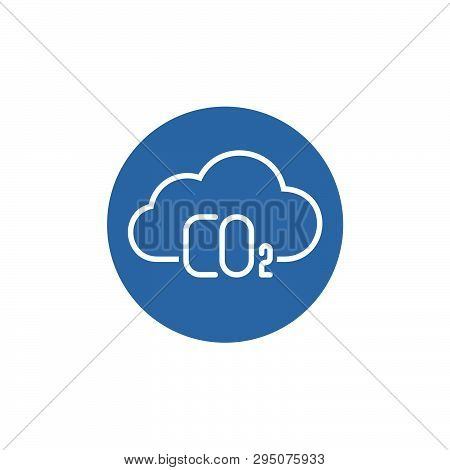 Carbon dioxide flat vector icon. Atmosphere flat vector icon stock photo