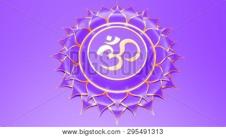 Green Heart chakra Anahata symbol concept of Hinduism, Buddhism, Ayurveda. love healing. 3d rendering stock photo