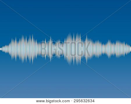 Abstract background music sound wave. Vector illustration stock photo