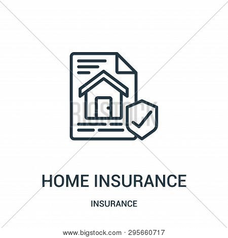 home insurance icon isolated on white background from insurance collection. home insurance icon trendy and modern home insurance symbol for logo, web, app, UI. home insurance icon simple sign. home insurance icon flat vector illustration for graphic and w stock photo