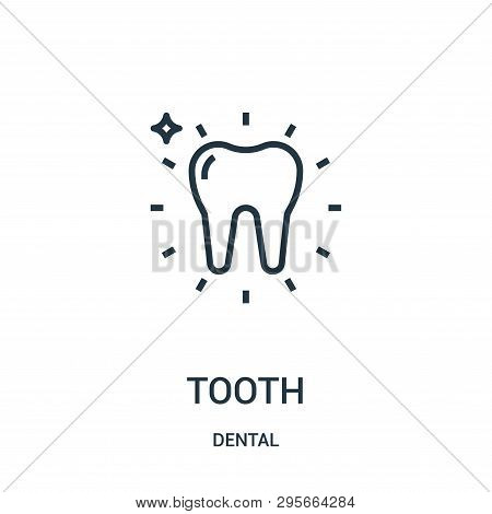tooth icon isolated on white background from dental collection. tooth icon trendy and modern tooth symbol for logo, web, app, UI. tooth icon simple sign. tooth icon flat vector illustration for graphic and web design. stock photo