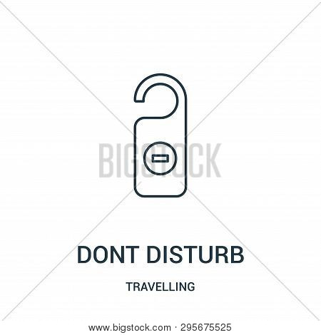 dont disturb icon isolated on white background from travelling collection. dont disturb icon trendy and modern dont disturb symbol for logo, web, app, UI. dont disturb icon simple sign. dont disturb icon flat vector illustration for graphic and web design stock photo