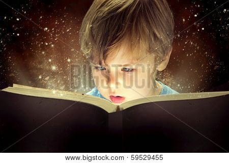 Child opened an enchantment book