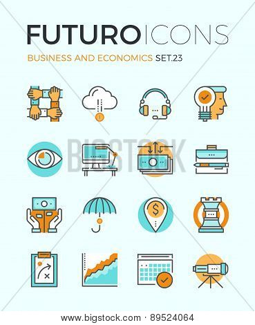 Business And Economics Futuro Line Icons