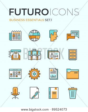 Business Essentials Futuro Line Icons