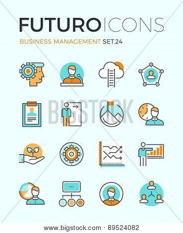 Business Management Futuro Line Icons