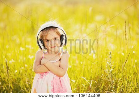 Funny Girl With Headphones