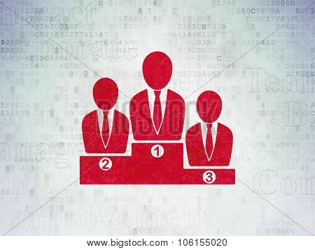 Business concept: Business Team on Digital Paper background