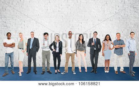 Group of Diverse Community Cheerful People Concept