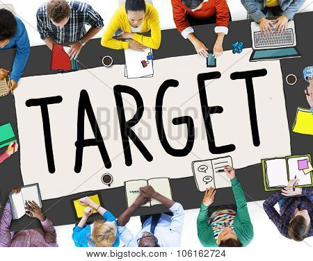 Target Aim Goal Marketing Mission Aspiration Concept