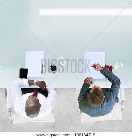 Diverse Business People Having a Meeting Office Concept