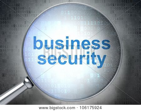 Security concept: Business Security with optical glass