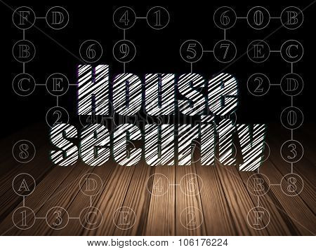 Privacy concept: House Security in grunge dark room