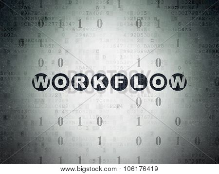 Business concept: Workflow on Digital Paper background