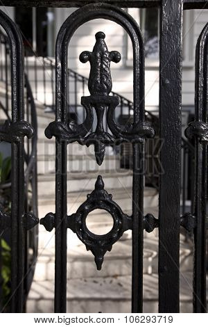 Charleston, South Carolina is know for its intricate, historical wrought iron.
