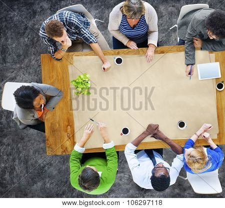 Multi-Ethnic Group of People in Meeting Copy Space Concept
