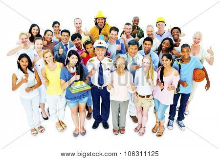 Large Group of People Community Variation Concept
