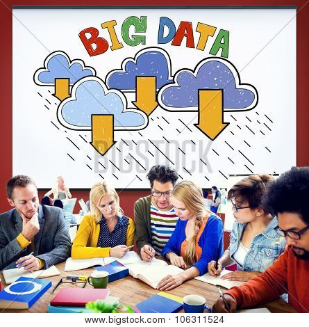 Big Data Storage Database Download Concept