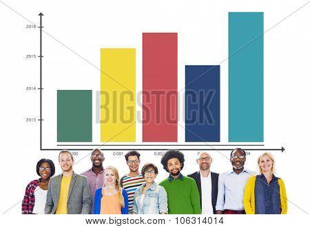 Graph Growth Success Development Improvement Concept