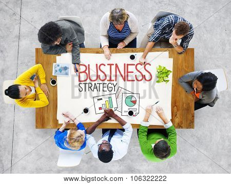 Business Strategy Planning Vision Marketing Concept