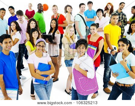 Students College Highschool People Youth Culture Concept