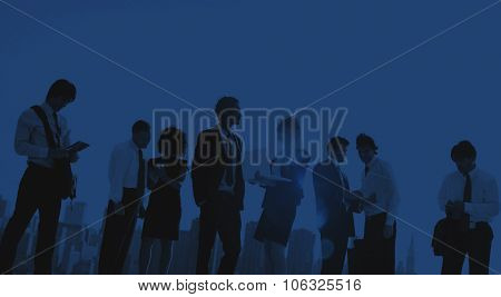 Business People Working Planning Communication Discussion Concept
