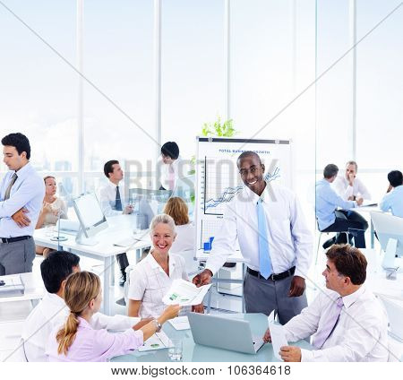 Business People Presentation Learning Corporate Concept