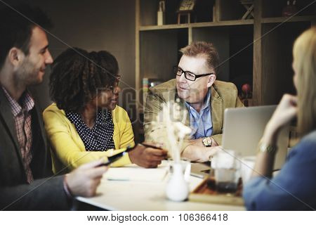 Business People Meeting Corporate Laptop Technology Concept