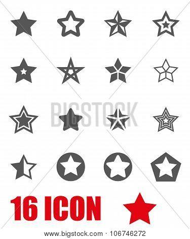Vector Grey Stars Icon Set