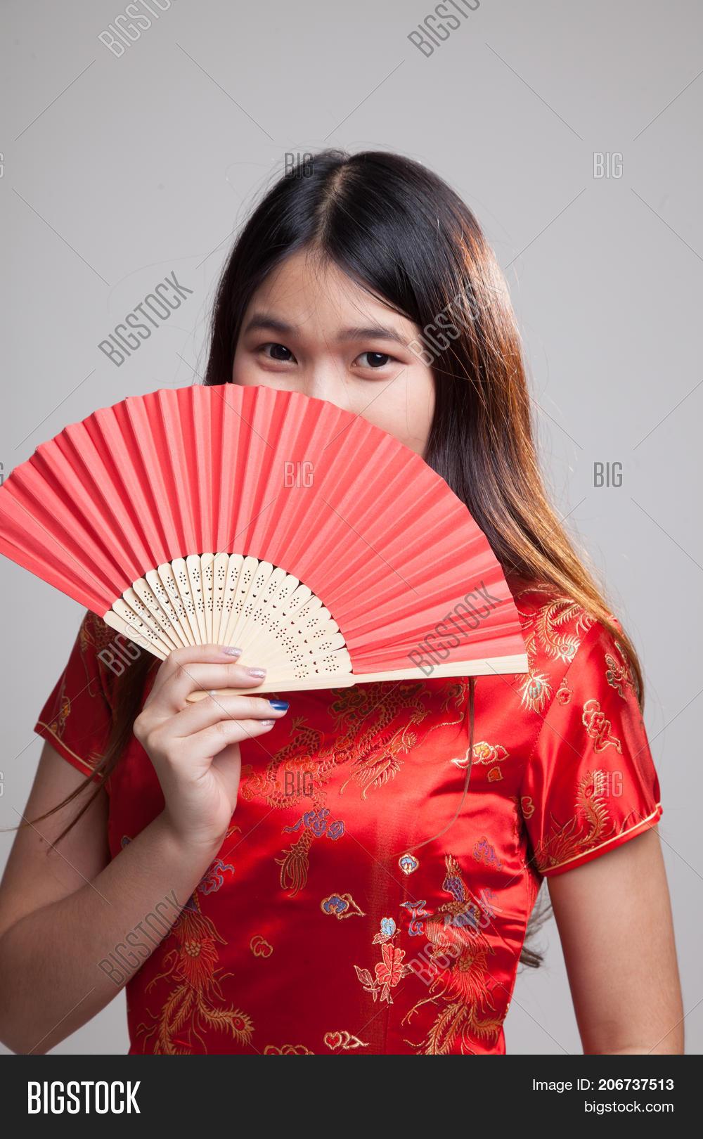 ec0502595f ▷ Asian Girl In Chinese Cheongsam Dress photo stock