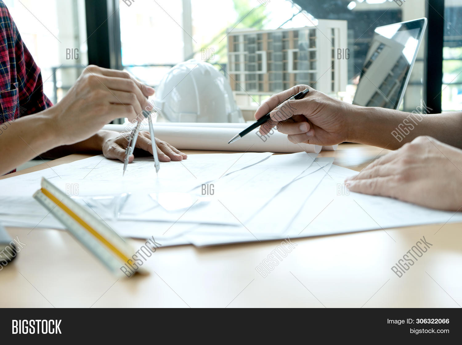 Engineer Or Architectural Project, Two Engineering Or Architect