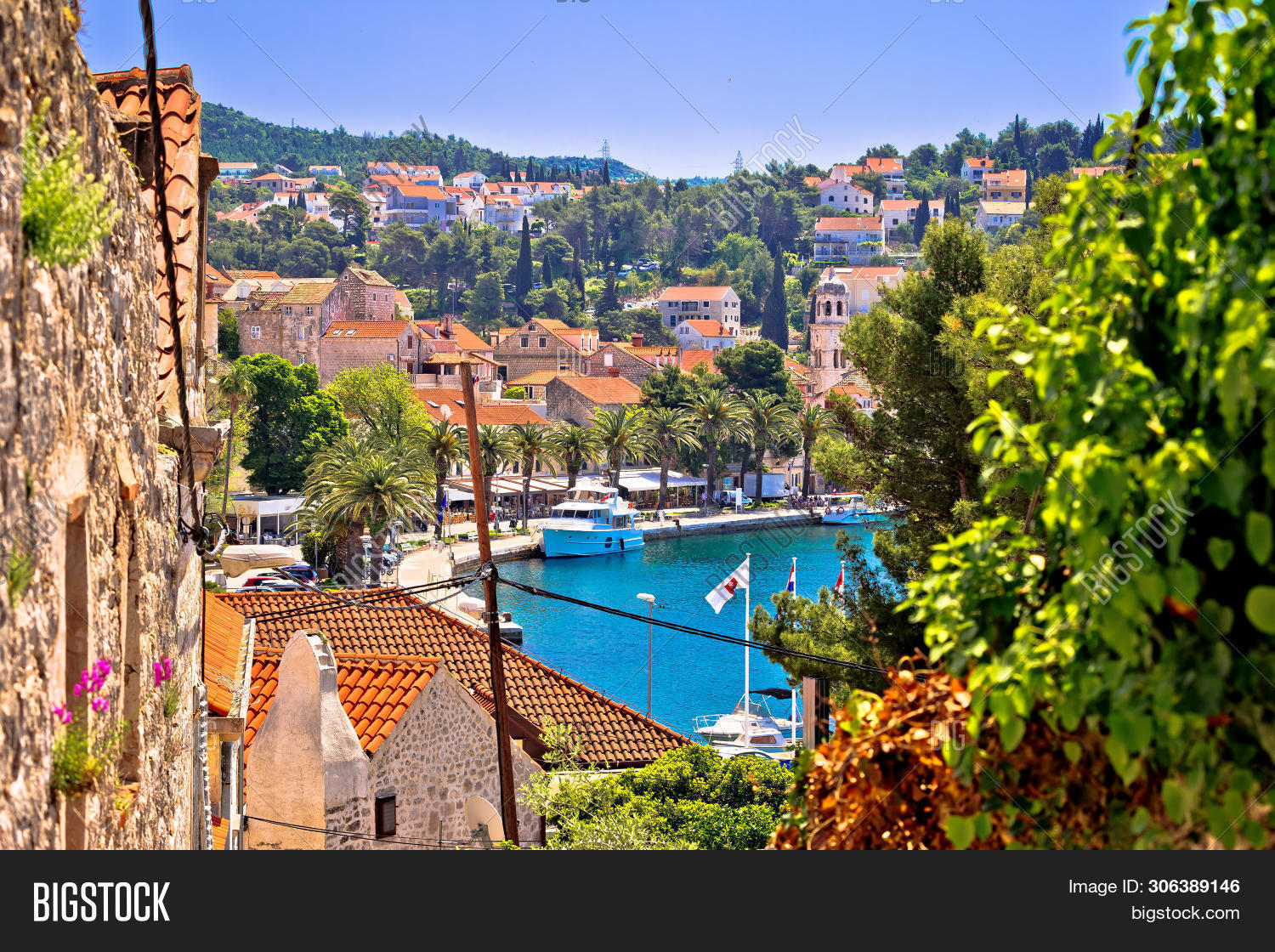 Town Of Cavtat Waterfront View, South Dalmatia, Croatia