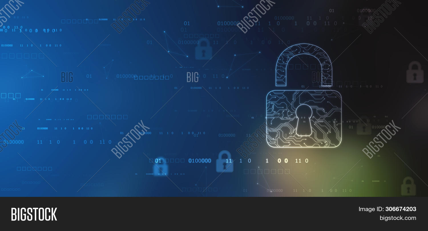 Technology Security Concept. Modern Safety Digital Background. Protection System, Cyber Security And