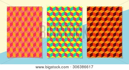 art template summer background with bright colors, 3D effect and geometric elements. Abstract design cards for printing, flyers, banners, invitations, special offers, announcements, covers. seamless stock photo