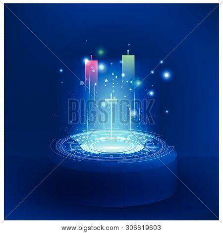 Futuristic Technology Controls Stock Market Forex Trading Graph Vector Futuristic  Smart Investment